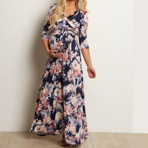 PINKBLUSH SHORT SLEEVE Version Floral Maxi Dress